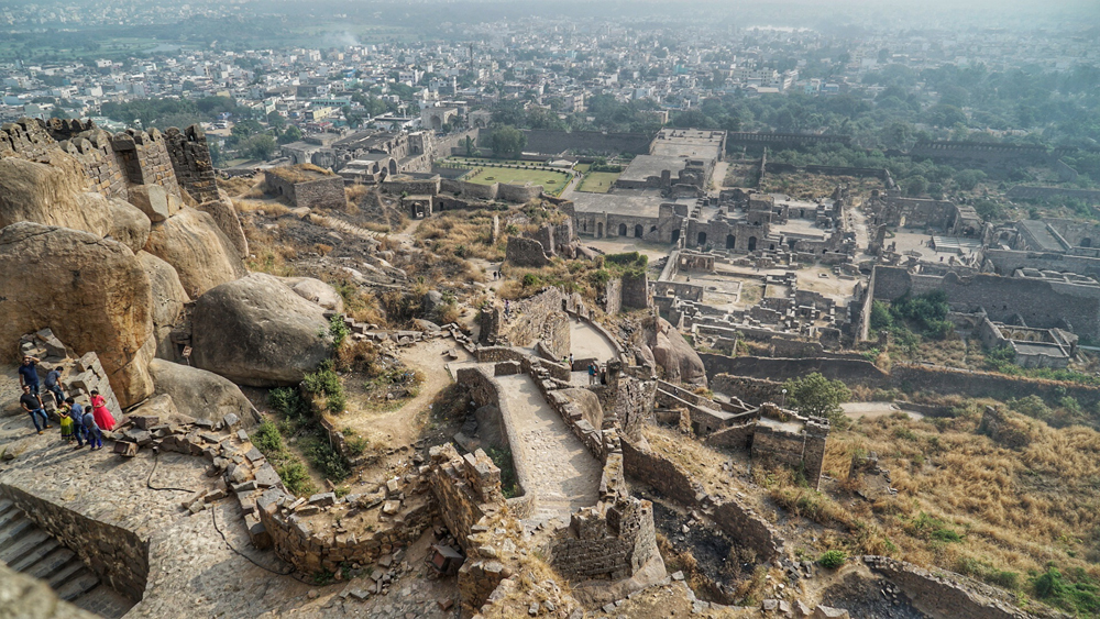 View from Golconda Fort, Hyderabad, India