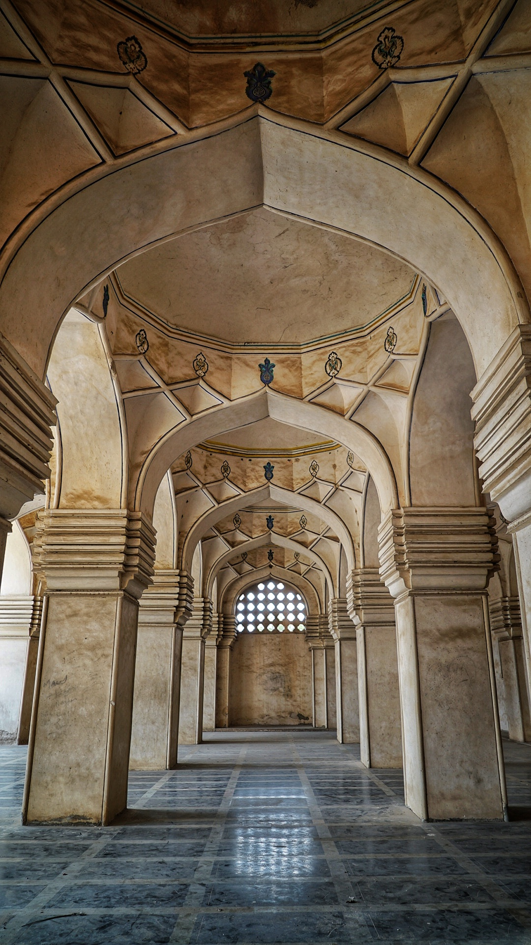 Arches in a mosque at the Qtub Shahi tombs, India