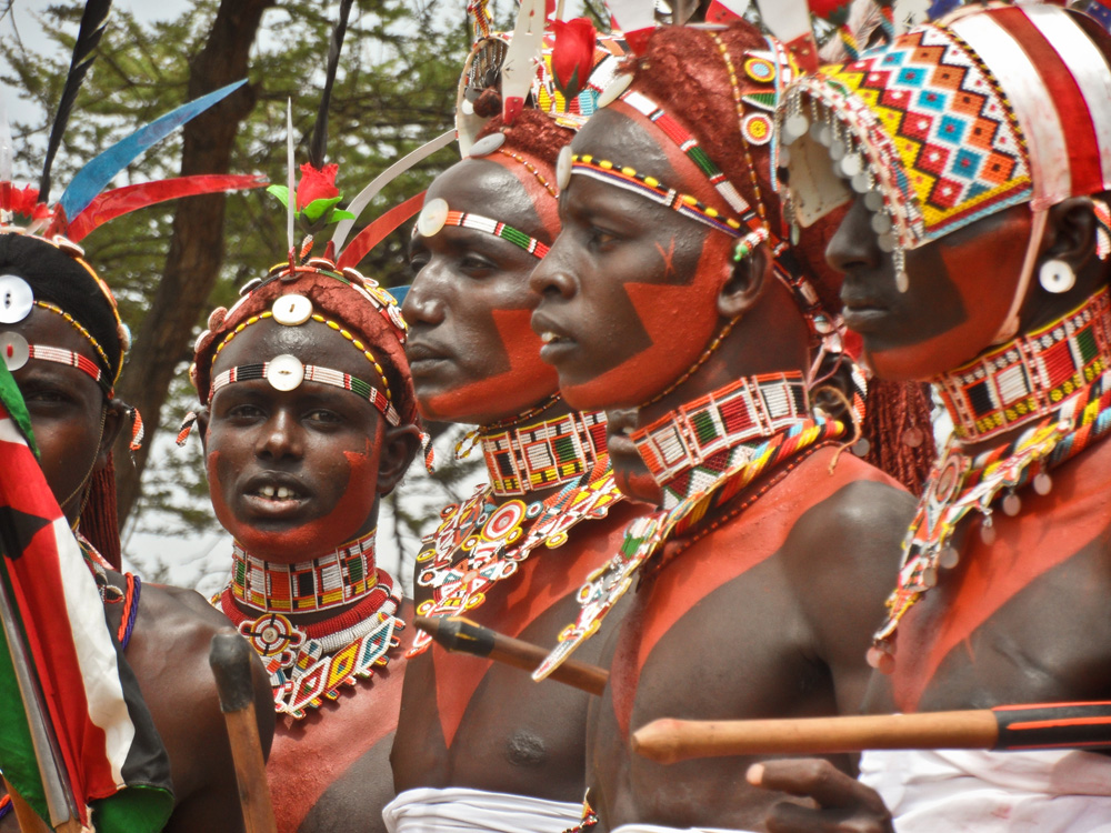 Samburu men, Kenya, Lottie Gross